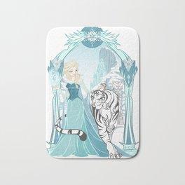 Frozen White Tiger Bath Mat