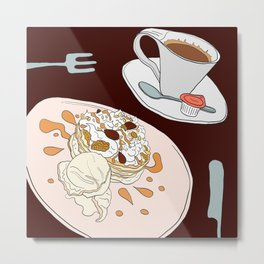 Pancake Treat Metal Print
