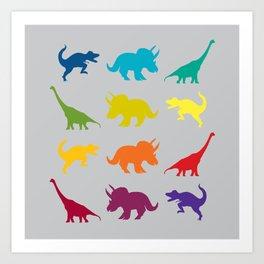Dino Parade 2 Art Print