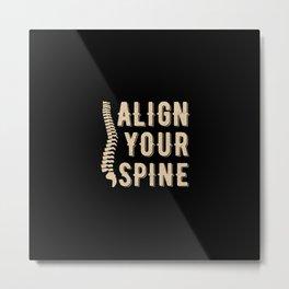 Chiropractor Chiropractic Metal Print