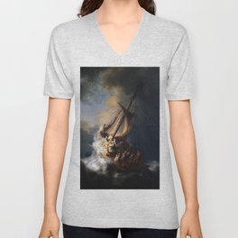 Rembrandt's The Storm on the Sea of Galilee Unisex V-Neck