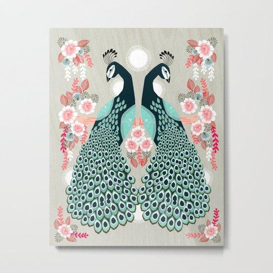 Peacocks by Andrea Lauren  Metal Print