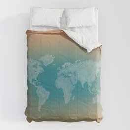 It's a Big ol' World - Pointilist Artwork Comforters