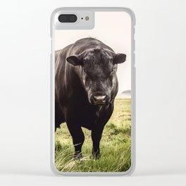Big Black Angus Bull Clear iPhone Case