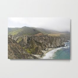 Pacific Coast Highway In Big Sur Metal Print