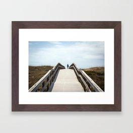Ocracoke Pony Pen Boardwalk 2018 Framed Art Print