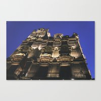 budapest hotel Canvas Prints featuring Hotel in Budapest by Victoria Wee
