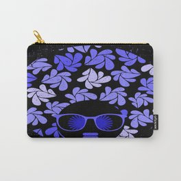 Afro Diva : Indigo Blue Periwinkle Carry-All Pouch