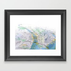 Pittsburgh Aerial Framed Art Print