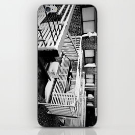 Fire Escape on Snowy Day iPhone Skin