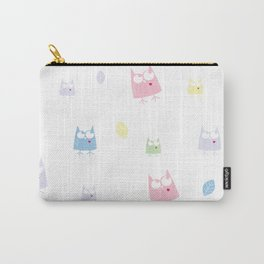 Owl Pattern Baby Pastel Carry-All Pouch
