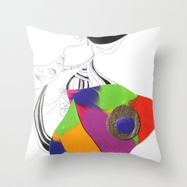 Silly Spring Dance Throw Pillow