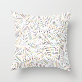Abstraction Linear Rainbow Throw Pillow