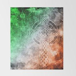 Irish Celtic Cross Throw Blanket