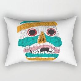 Stripy Skull  Rectangular Pillow