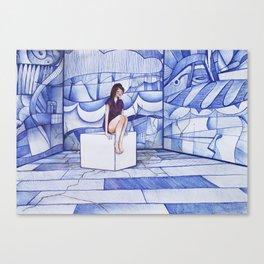 #6 - Pensare nel caos Canvas Print