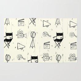 Filmmaking Pattern // Ink Drawing Rug