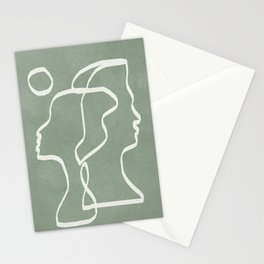 Abstract Faces Stationery Cards