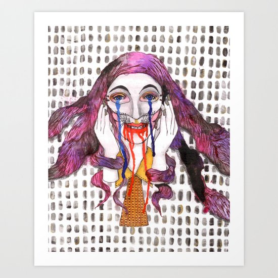 Smile is Happiness  Art Print
