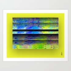 Yellow Color Blinds Art Print