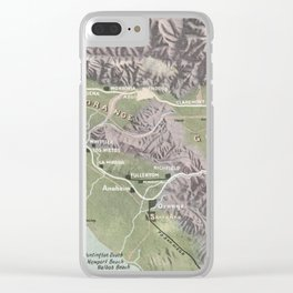 Vintage Relief Map of Southern California (1898) Clear iPhone Case