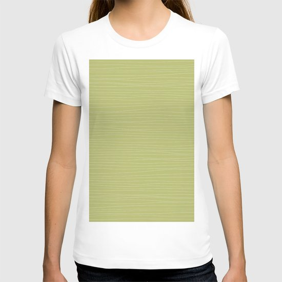 Horizontal White Stripes on Light Green by silviabelli92