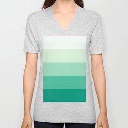 Pastel Green Stripes Unisex V-Neck