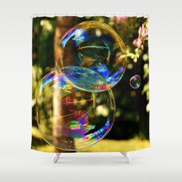 Bubbles | Bulles Shower Curtain