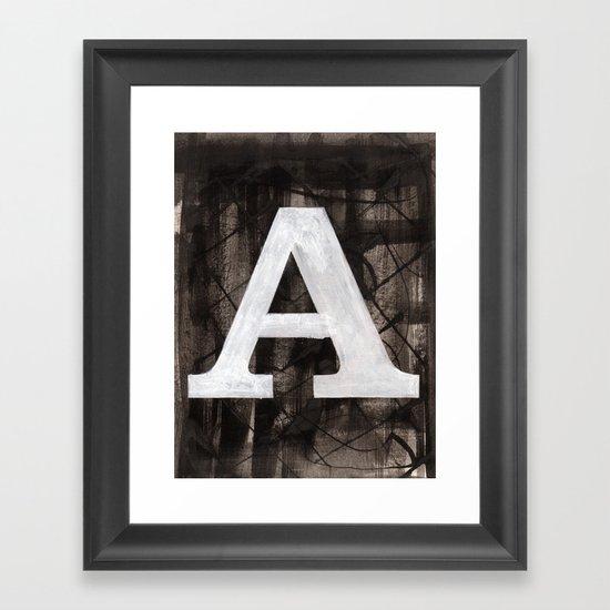 -A- Framed Art Print
