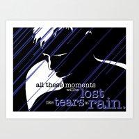 Tears in Rain Art Print