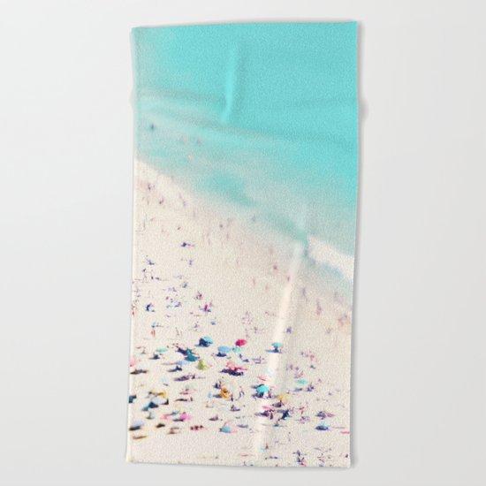 beach love III square Beach Towel