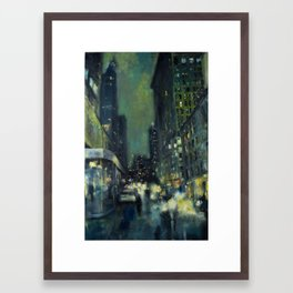 Into the Gaslight Framed Art Print