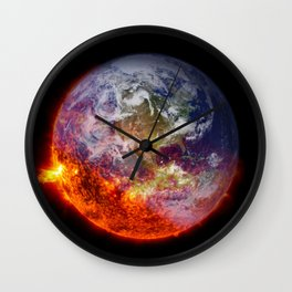Global Warming Climate Change Wall Clock