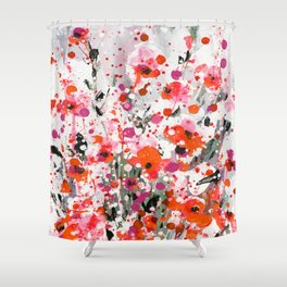 Floral Expression 2a by Kathy Morton Stanion Shower Curtain