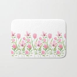 Blush pink blossom Bath Mat