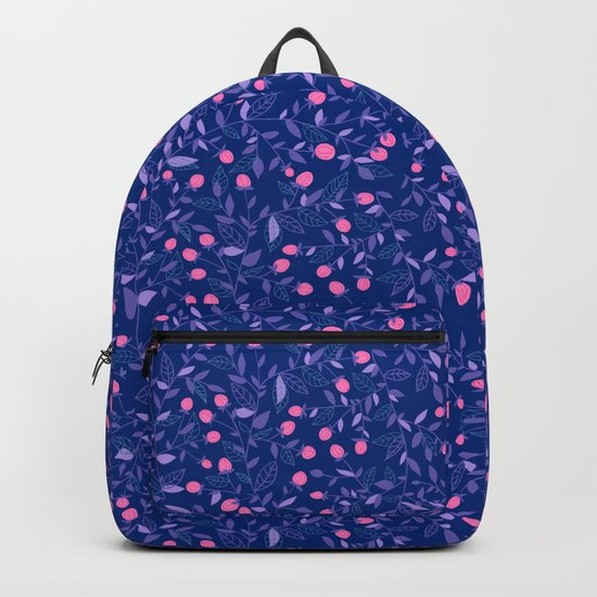 Floral doodles pink and violet Backpack