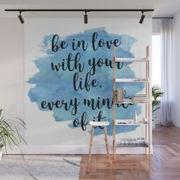 Be in love with your life - Jack Kerouac Wall Mural