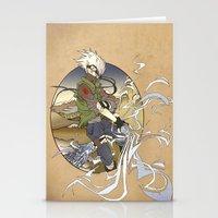 kakashi Stationery Cards featuring Woodblock Kakashi by Sempaiko