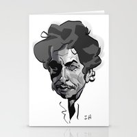 bob dylan Stationery Cards featuring BOB DYLAN! by nachodraws