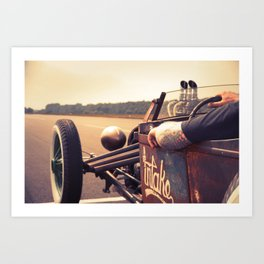 Hot Rod Racing III Art Print