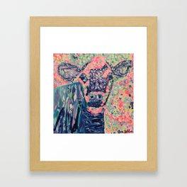 Moo-ve over winter- Cow Framed Art Print