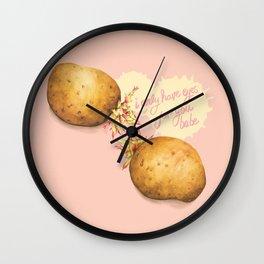 Food Pun - Potato Romance Wall Clock