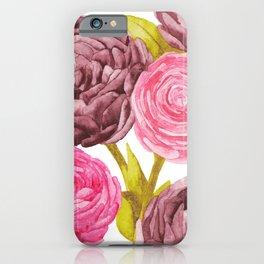 Ranunculus + Peonies iPhone Case