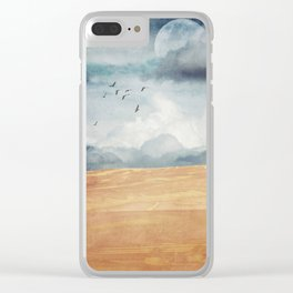 Where Land Meets Sky Clear iPhone Case