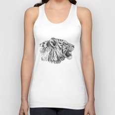 White Tiger Profile Unisex Tank Top