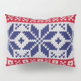 Winter knitted pattern 7 Pillow Sham