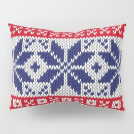 Winter knitted pattern 7 Pillow Sham