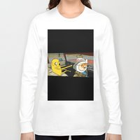 fear and loathing Long Sleeve T-shirts featuring fear and loathing time by nakedoats
