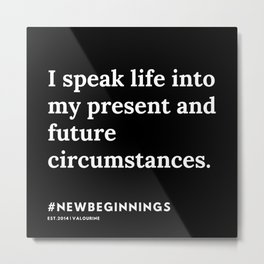 4   | 191124 |  New Year | List Of Mantras | Affirmations For New Beginnings Metal Print