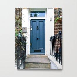 Blue Door in Notting Hill Metal Print